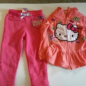 Hello Kitty sweatpants and sweater you get both .